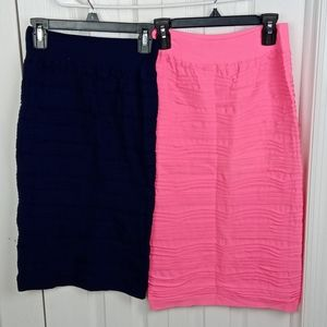 4/$25 Lot of two body con midi skirts